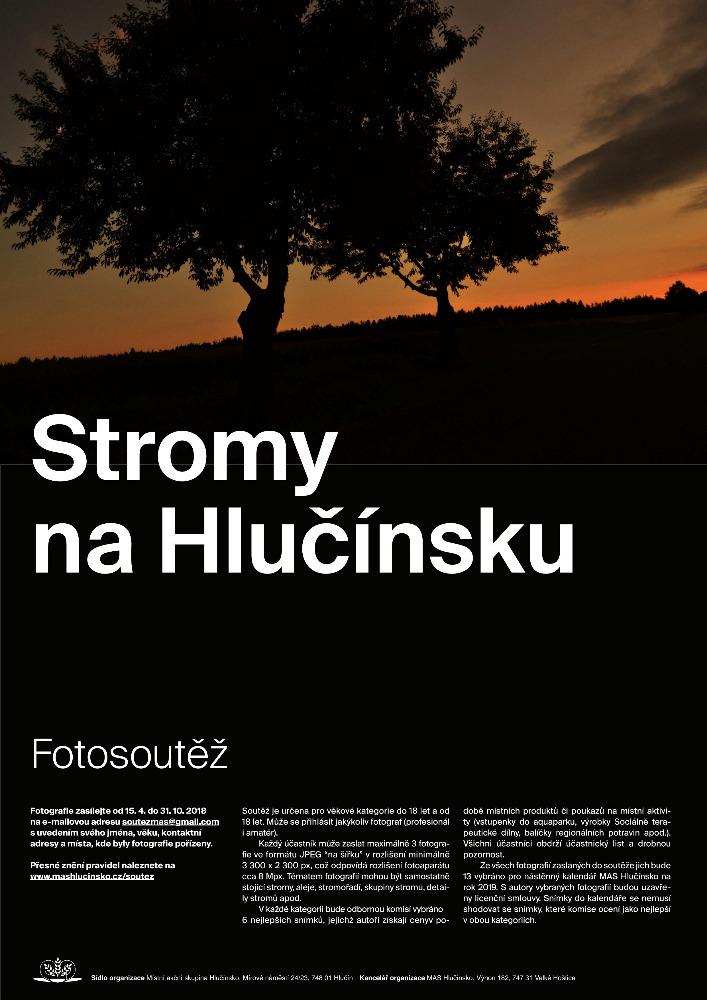 plakát k fotosoutěži STROMY NA HLUČÍNSKU