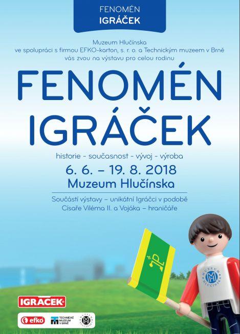 plakát k výstavě FENOMÉM IGRÁČEK
