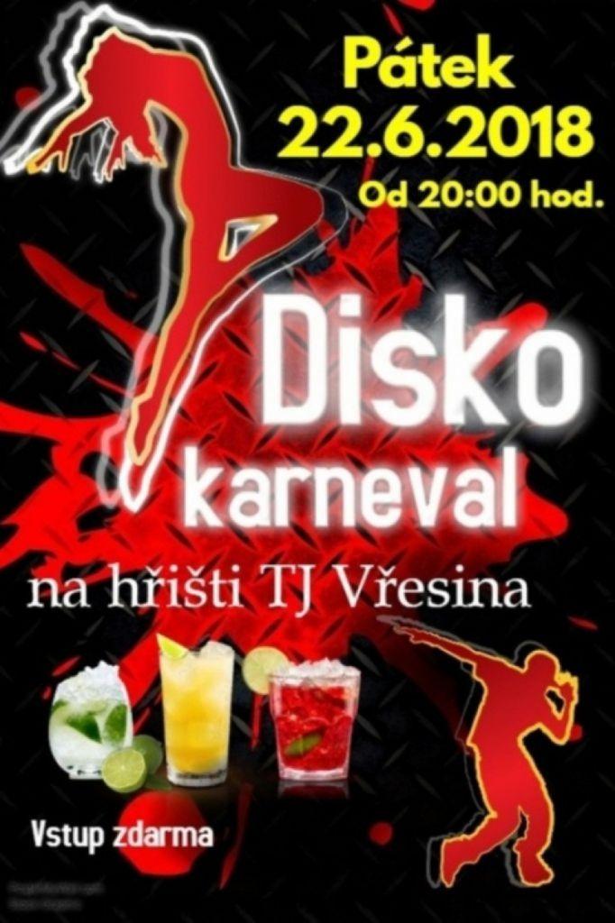 plakát k akci DISKO KARNEVAL