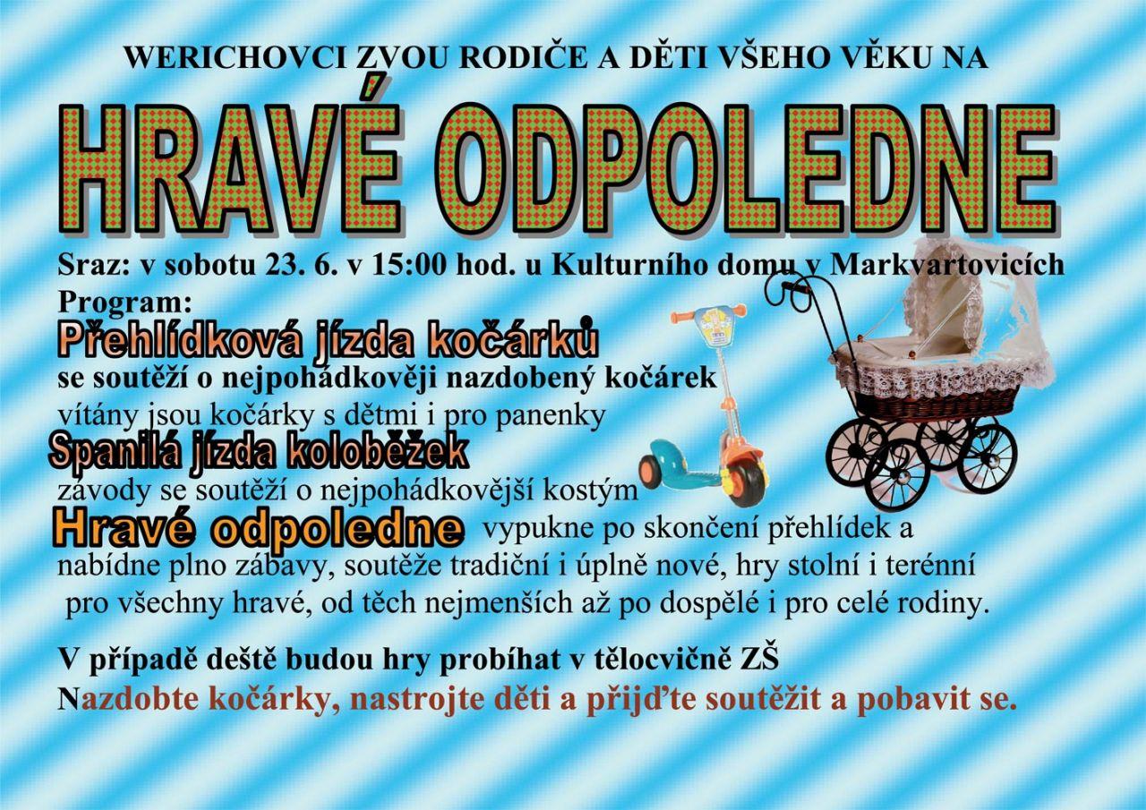 plakát k akci HRAVÉ ODPOLEDNE