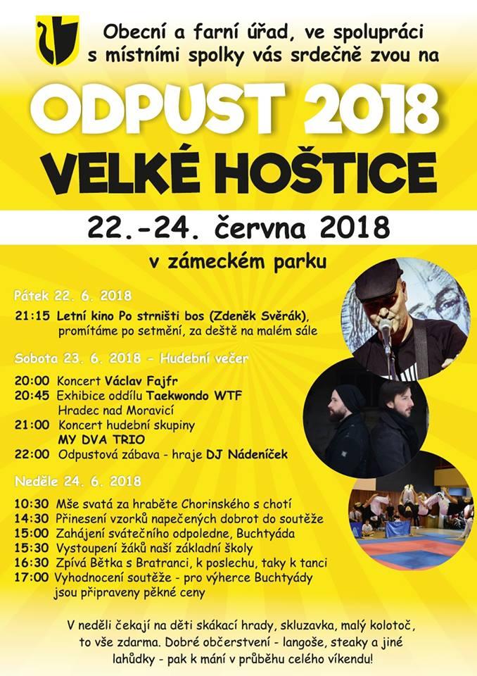 plakát k akci ODPUST 2018