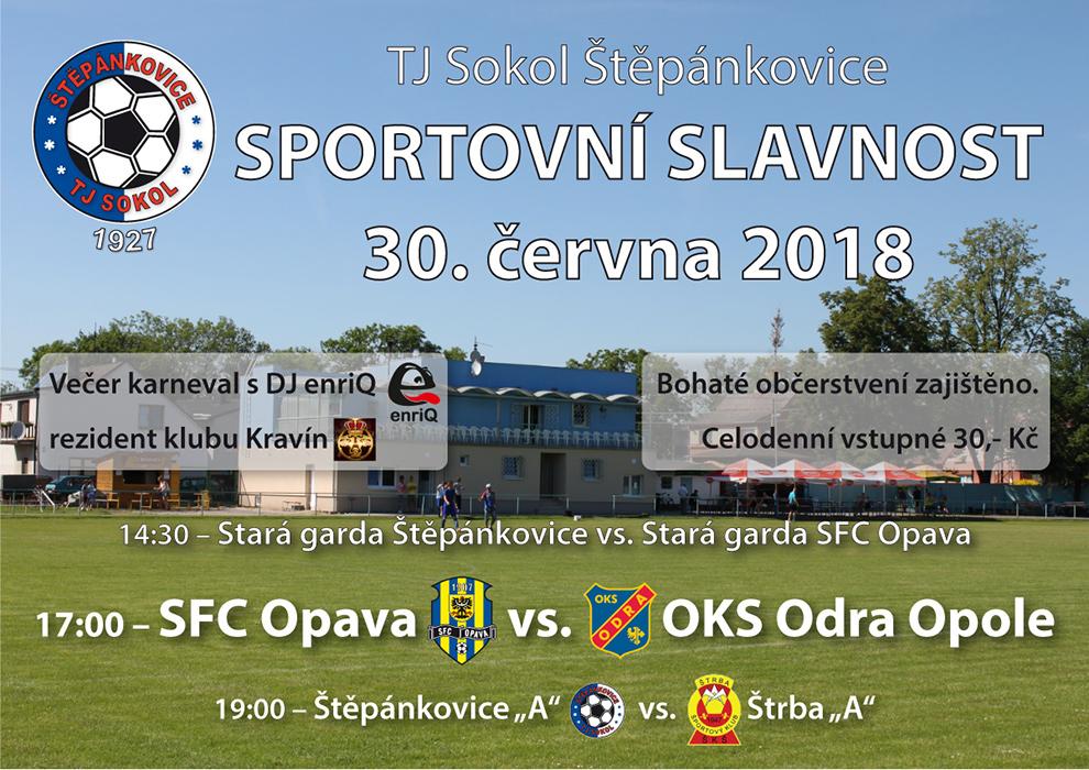 plakát k akci SPORTOVNÍ SLAVNOST