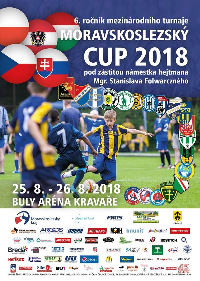 plakát k mezinárodnímu fotbalovému turnaji MORAVSKOSLEZSKÝ CUP U10
