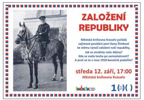 pozvánka na přednášku ZALOŽENÍ REPUBLIKY