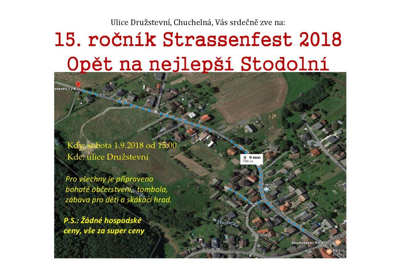 plakát k akci STRASSENFEST 2018