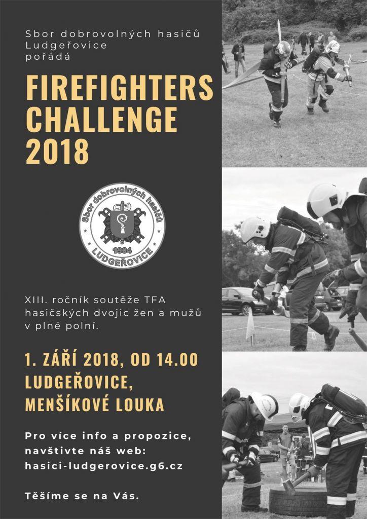 plakát k akci FIREFIGHTERS CHALLENGE 2018