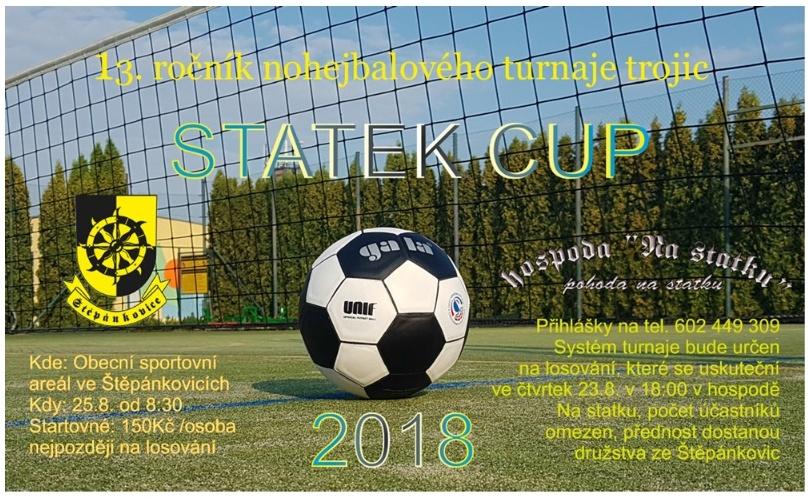 plakát k akci STATEK CUP 2018