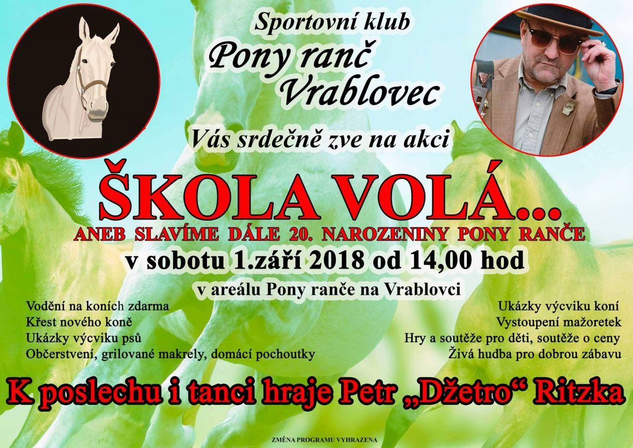 plakát k akci ŠKOLA VOLÁ ...
