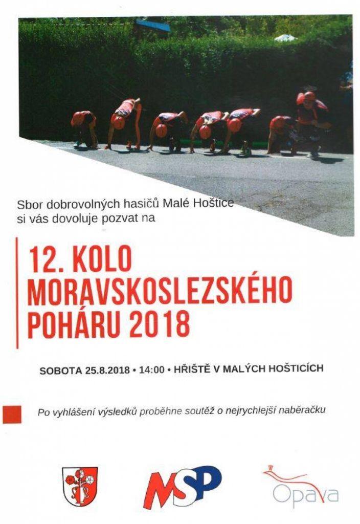 plakát k akci 12. KOLO MORAVSKOSLEZSKÉHO POHÁRU 2018