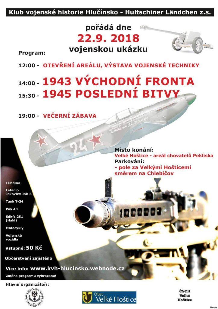plakát k akci VOJENSKÁ UKÁZKA