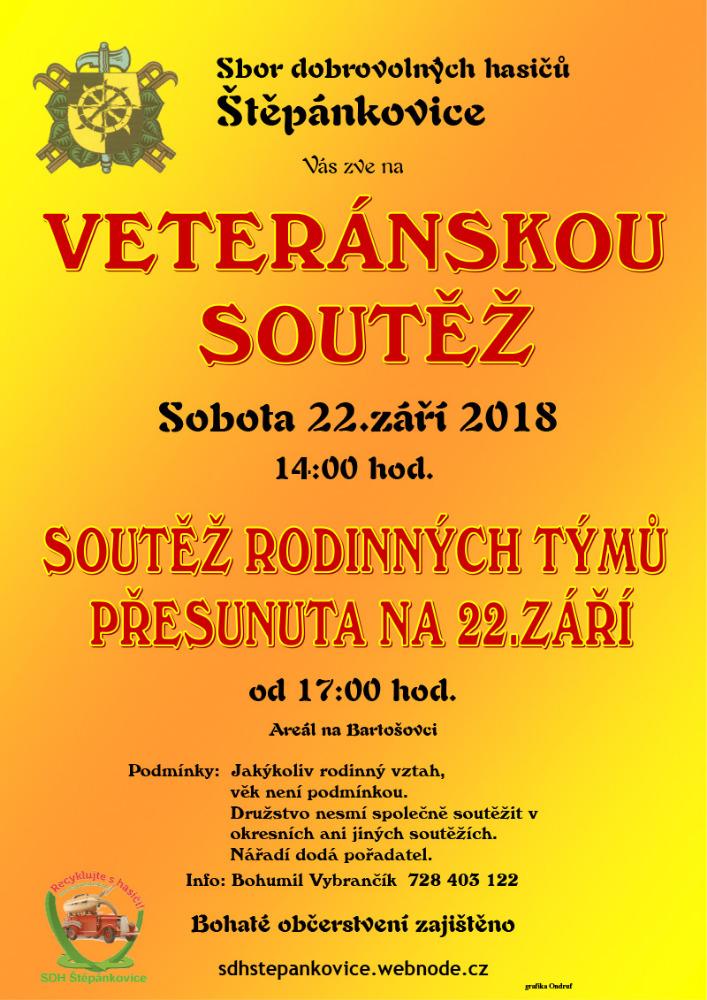 plakát k akci VETERÁNSKÁ SOUTĚŽ