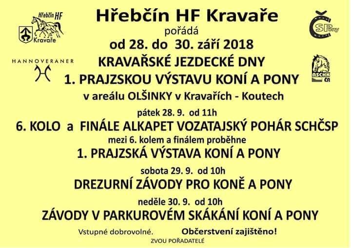plakát k akci KRAVAŘSKÉ JEZDECKÉ DNY 2018