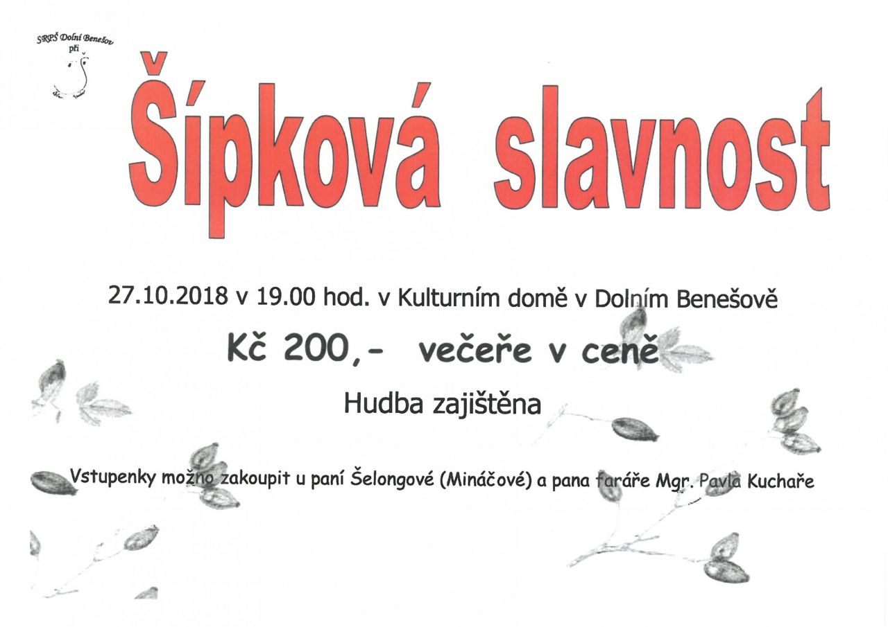 plakát k akci ŠÍPKOVÁ SLAVNOST