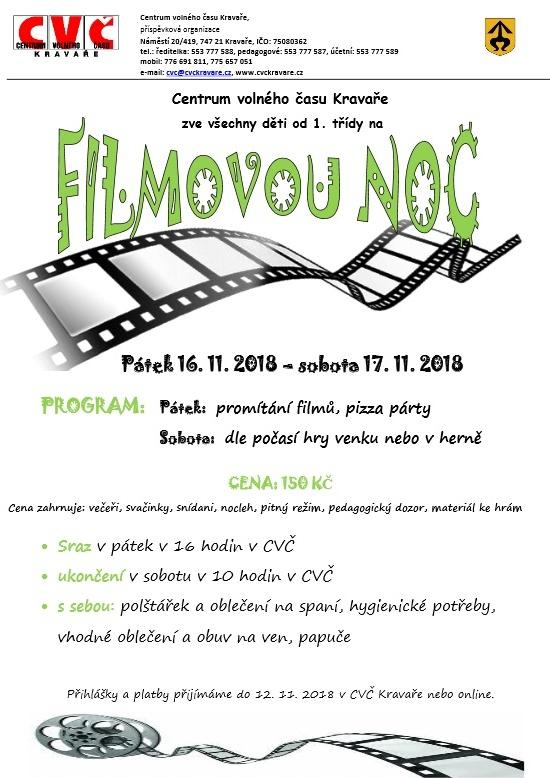 plakát k akci FILMOVÁ NOC