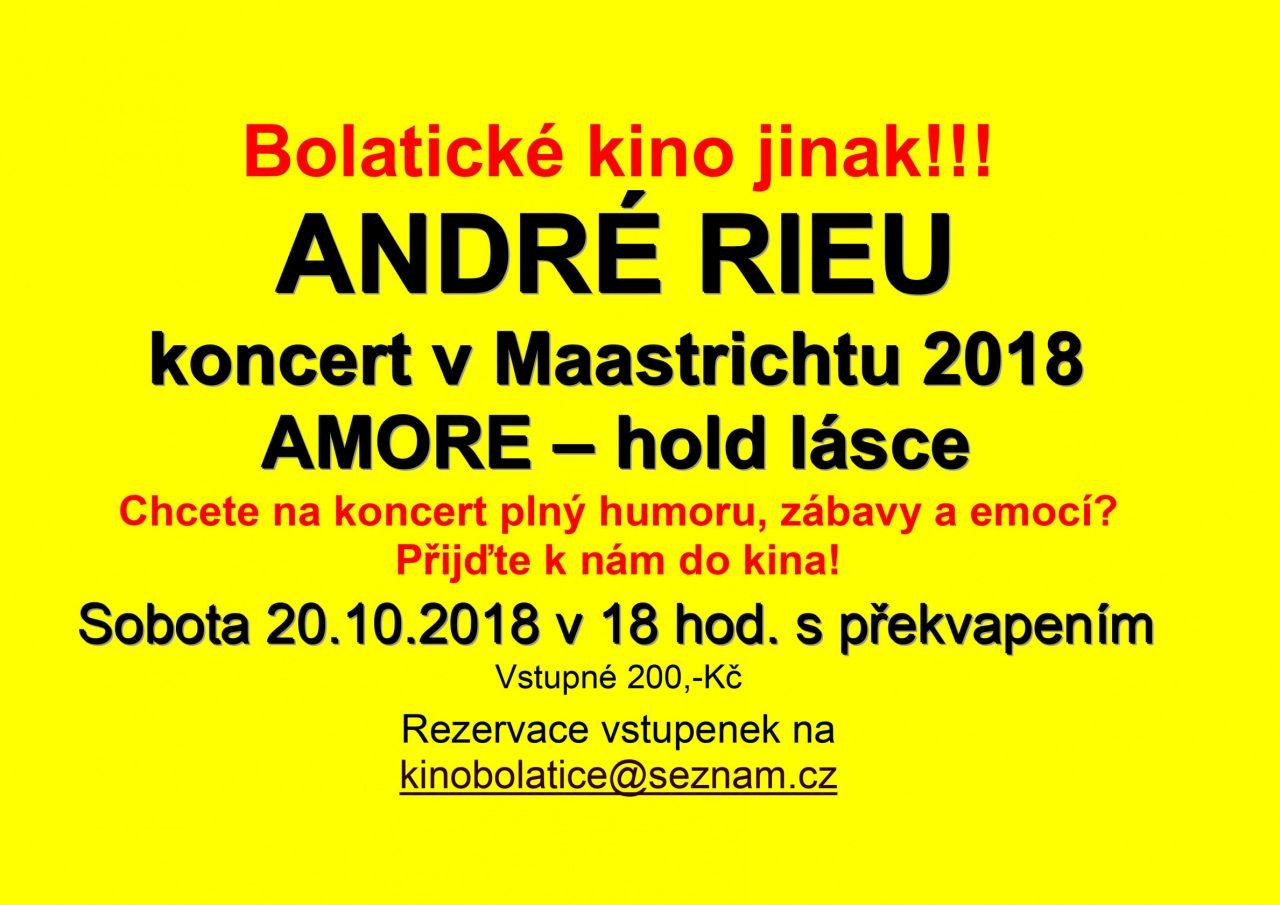 plakát k akci ANDRE RIEU /koncert v Maastrichtu 2018/