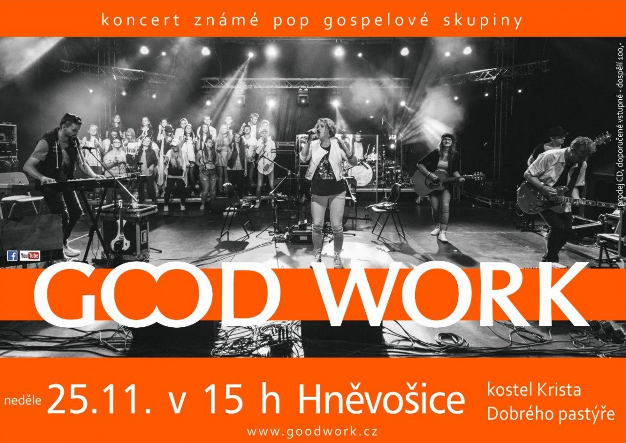 plakát ke koncertu skupiny GOOD WORK