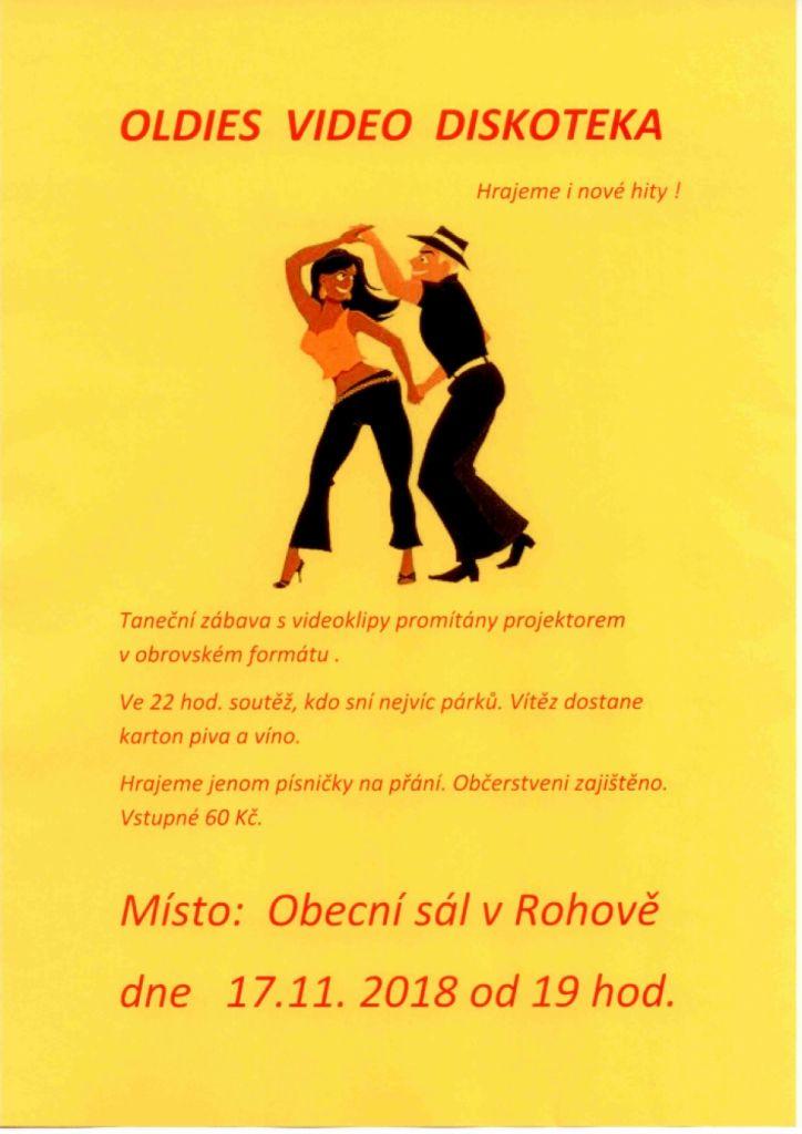 plakát k akci OLDIES VIDEO DISKOTÉKA