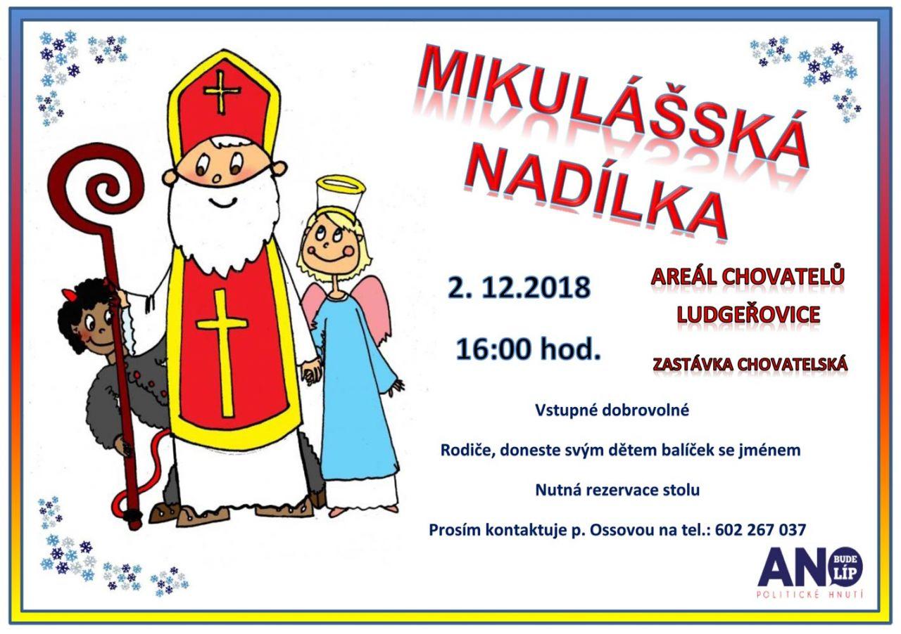 plakát k akci MIKULÁŠSKÁ NADÍLKA