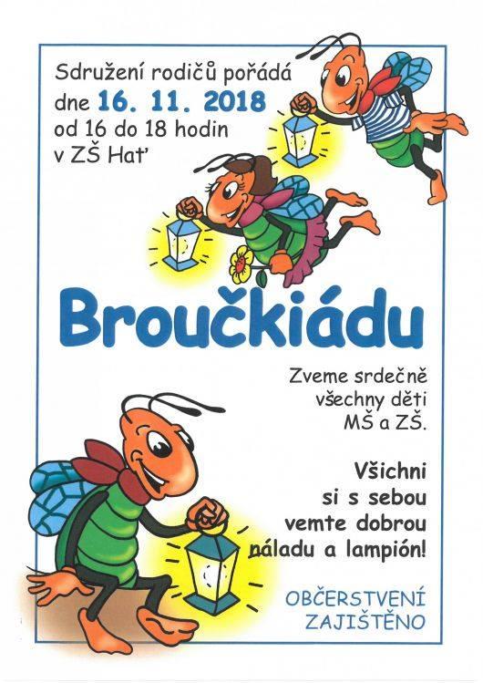 plakát k akci BROUČKIÁDA