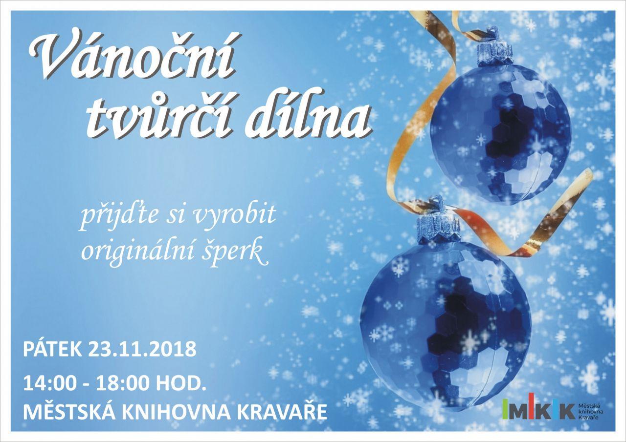 Plakát Vánoční tvůrčí dílna