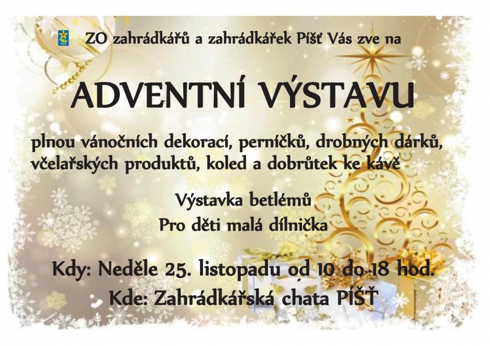 plakát k akci ADVENTNÍ VÝSTAVA