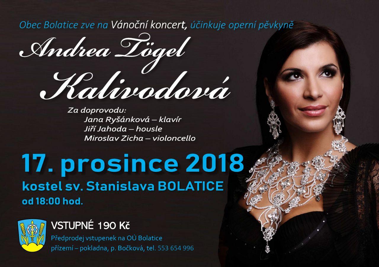 plakát k akci VÁNOČNÍ KONCERT/ANDREA TÖGEL KALIVODOVÁ