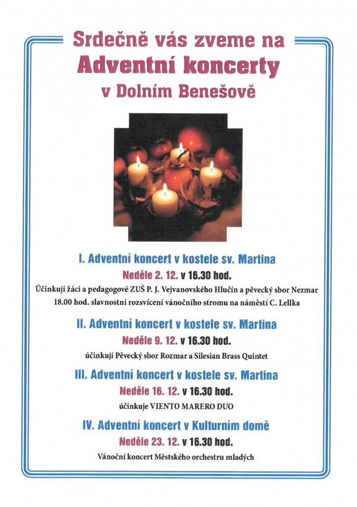 plakát k akci IV. ADVENTNÍ KONCERT