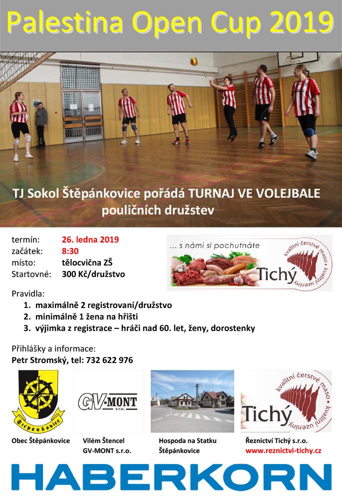 plakát k akci PALESTINA OPEN CUP 2019 /volejbalový turnaj/