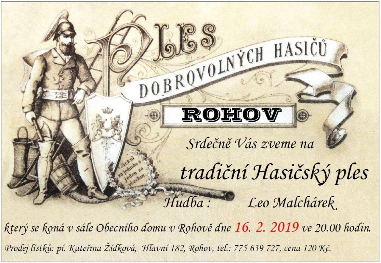 plakát kakci HASIČSKÝ PLES