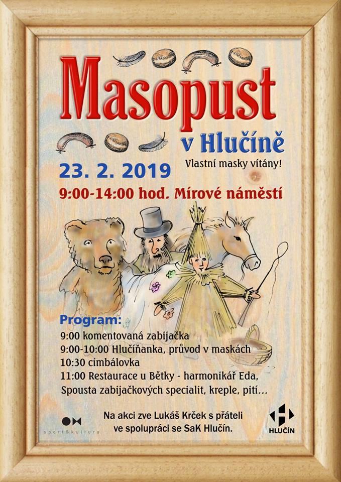 plakát k akci MASOPUST V HLUČÍNĚ