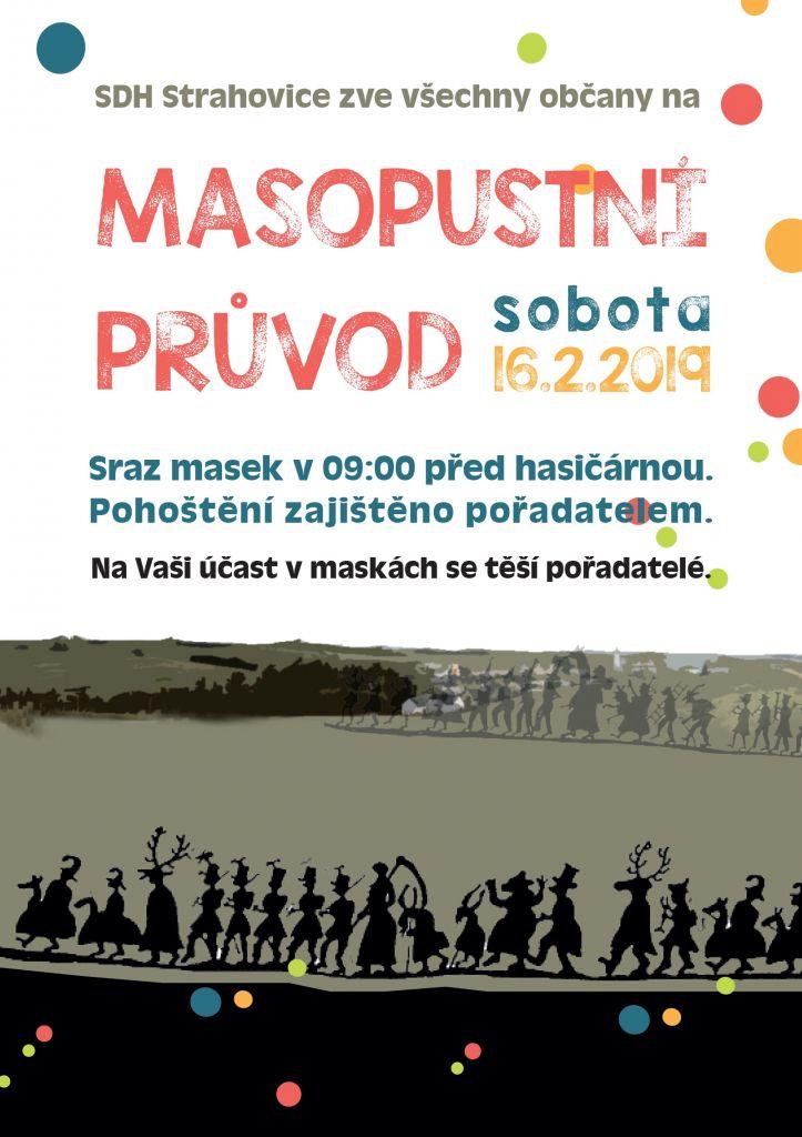 plakát k akci MASOPUSTNÍ PRŮVOD