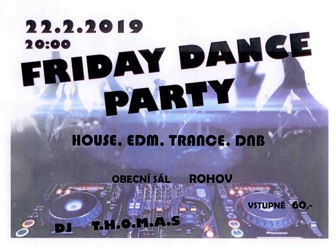 plakát kakci FRIDAY DANCE PARTY