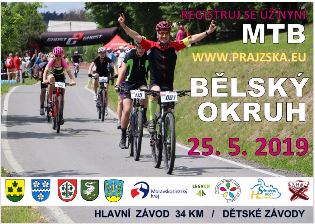 plakát k cyklistyckým závodům BĚLSKÝ OKRUH