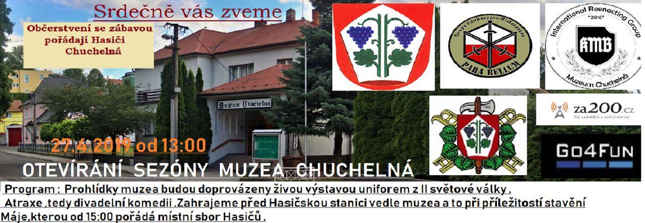 plakát k akci OTEVÍRÁNÍ SEZÓNY MUZEA CHUCHELNÁ