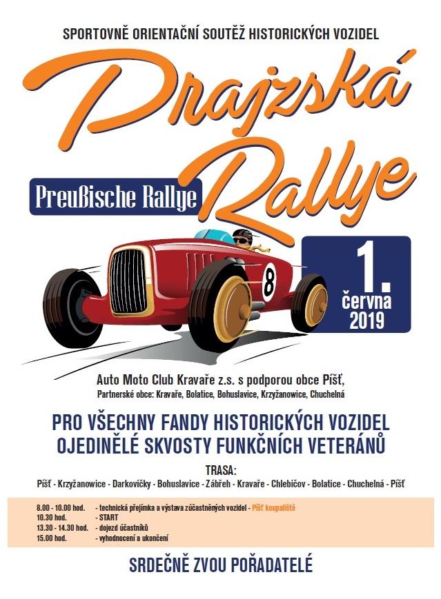 plakát k akci PRAJZSKÁ RALLYE