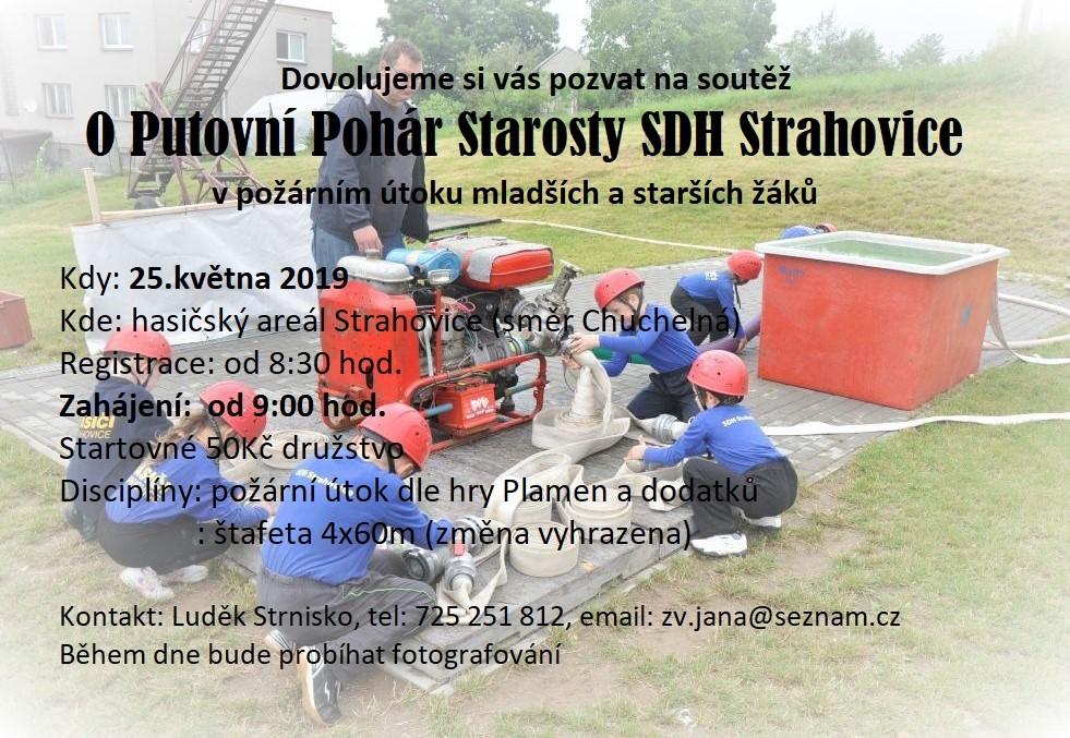 plakát k akci O PUTOVNÍ POHÁR STAROSTY SDH