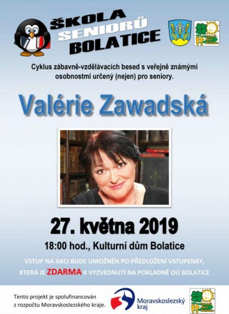 plakát k akci VALÉRIE ZAWADSKÁ