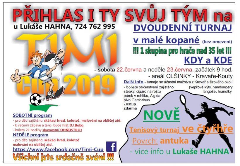 plakát kakci TIMI CUP 2019