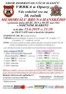 plakát k akci MEMORIÁL BRUNA HANSKÉHO