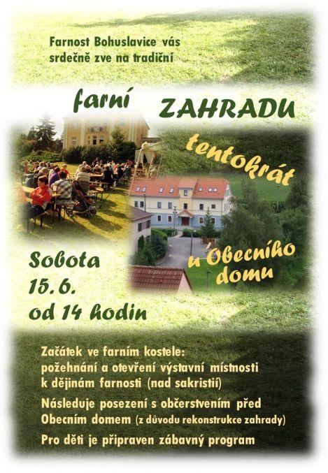 plakát kakci FARNÍ ZAHRADA