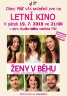 plakát k letnímu kinu ŽENY V BĚHU