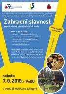 plakát k akci ZAHRADNÍ SLAVNOST