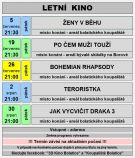 plakát k letnímu kinu TEROISTKA