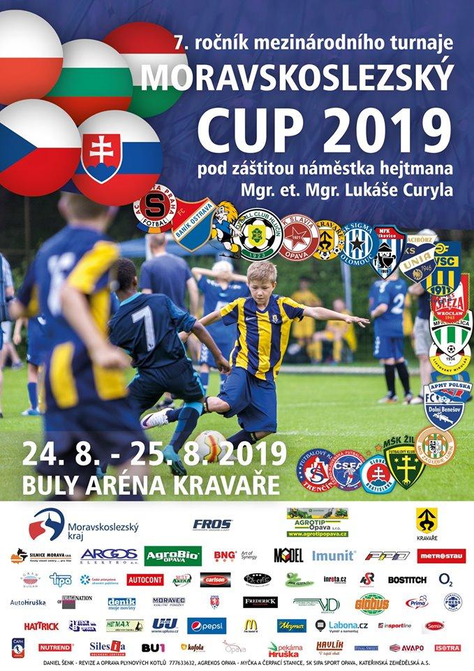 plakát kfotbalovému turnaji MORAVSKOSLEZSKÝ CUP 2019