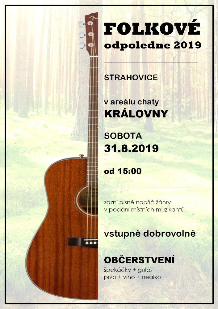 plakát kakci FOLKOVÉ ODPOLEDNE