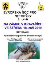 plakát k akci EVROPSKÁ NOC PRO NETOPÝRY