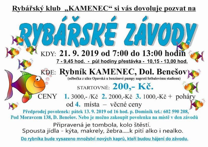 plakát kakci RYBÁŘSKÉ ZÁVODY
