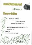 plakát k akci BURČÁKOBRANÍ S FILMEM ŽENY V BĚHU