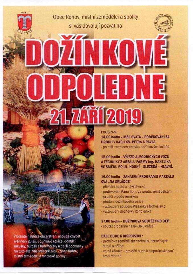 plakát kakci DOŽÍNKOVÉ ODPOLEDNE