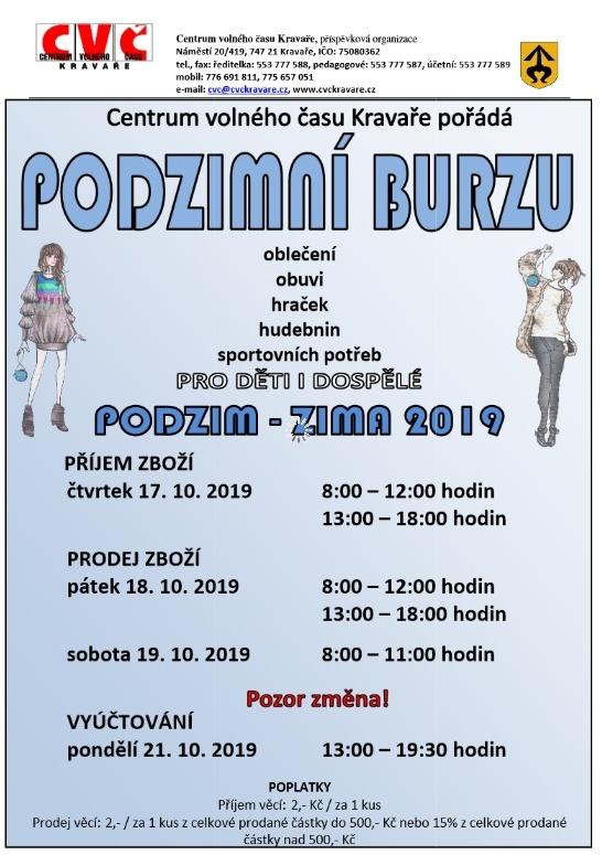 plakát kakci PODZIMNÍ BURZA